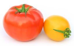 Tomates maduros de dos colores Imágenes de archivo libres de regalías