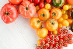 Tomates maduros frescos Imagens de Stock
