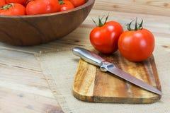Tomates maduros frescos do close up Fotografia de Stock