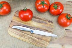 Tomates maduros frescos do close up Fotos de Stock Royalty Free