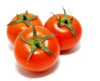 Tomates maduros no fundo branco Fotos de Stock