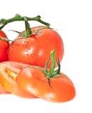 Tomates mojados agua Imagen de archivo