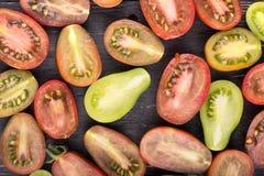 Tomates na placa Foto de Stock Royalty Free