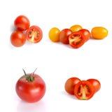 Tomates no fundo branco Fotografia de Stock