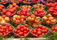 Tomates no mercado Fotos de Stock