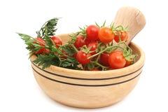 Tomates no prato Imagens de Stock Royalty Free