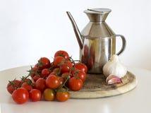 Tomates, oli et parmesan Photo libre de droits