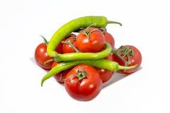 Tomates orgánicos frescos Imagen de archivo libre de regalías
