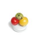 Tomates orgânicos coloridos foto de stock royalty free