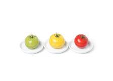 Tomates orgânicos coloridos imagem de stock royalty free
