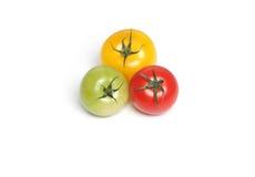 Tomates orgânicos coloridos fotos de stock royalty free