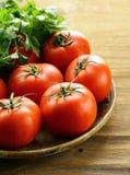 Tomates orgânicos maduros Imagens de Stock Royalty Free