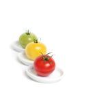 Tomates organiques colorées Photo stock