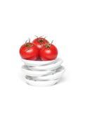Tomates organiques rouges de raisin Images libres de droits