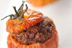 Tomates rellenos de la carne Foto de archivo libre de regalías