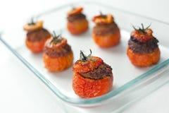 Tomates rellenos de la carne Imagen de archivo libre de regalías
