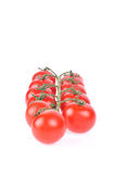 Tomates rojos aislados Foto de archivo libre de regalías
