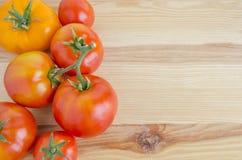 Tomates rojos y amarillos Imágenes de archivo libres de regalías