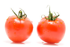 tomates rouges deux images stock