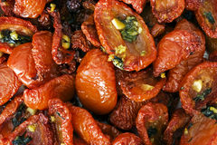 Tomates sèches par maison Photographie stock