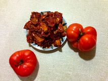 Tomates séchées au soleil image libre de droits