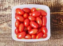 Tomates salgados vermelhos Imagens de Stock Royalty Free