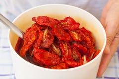 Tomates secados Imagem de Stock