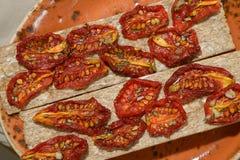 Tomates secados al sol Foto de archivo libre de regalías