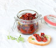 Tomates Sun-dried Imagens de Stock