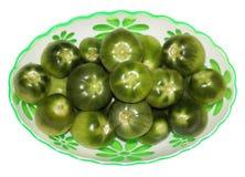 Tomates verdes Imagens de Stock