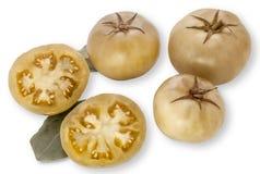 Tomates verdes conservados en vinagre Fotos de archivo libres de regalías