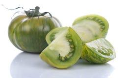 Tomates verdes da zebra Imagens de Stock