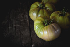 Tomates verdes do RAF Foto de Stock Royalty Free