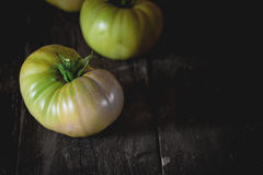 Tomates verdes do RAF Fotografia de Stock Royalty Free