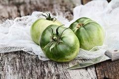 Tomates verdes frescos Fotos de archivo