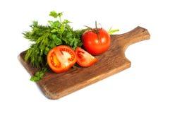 Tomates vermelhos Imagens de Stock