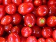 Tomates vermelhos, Cherry Tomatos em um mercado foto de stock