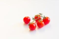 Tomates vermelhos frescos Conceito do cozimento, o saudável ou do vegetariano comer Fotos de Stock Royalty Free