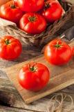 Tomates vermelhos orgânicos crus do bife imagens de stock