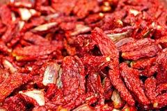 Tomates vermelhos Sundried imagem de stock royalty free
