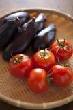 Tomates y berenjenas Imagen de archivo libre de regalías
