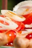 Tomates y cebolla Fotografía de archivo libre de regalías