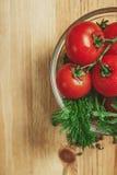 Tomates y eneldo Fotografía de archivo