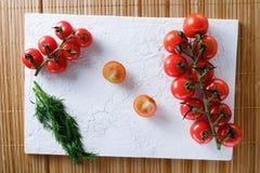 Tomates y eneldo Imagen de archivo