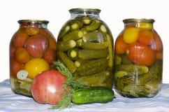 Tomates y pepinos Fotos de archivo libres de regalías