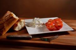 Tomates y queso Imagen de archivo