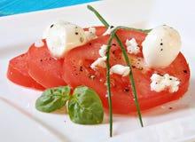 Tomatesalat Stockfotografie