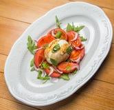 Tomatesalat mit Zwiebel Lizenzfreie Stockfotografie