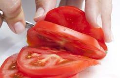 Tomatescheibe stockfotos