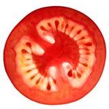Tomatescheibe getrennt Lizenzfreie Stockfotografie